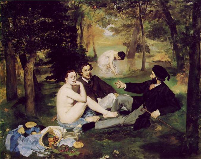 Le Déjeuner sur l'Herbe (The Picnic). Édouard Manet. Oil on canvas. Painted 1862–1863.